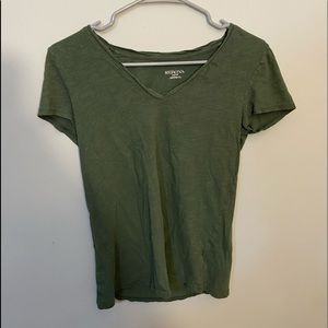 Dark Green V Neck